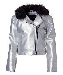 love this silver metallic moto jacket toddler