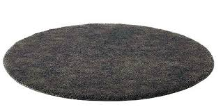 adum round rug ikea rugs dark grey pile