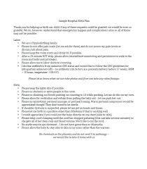 Sample Natural Birth Plan Pure Birth Plan Template Natural Sample Uk Nz