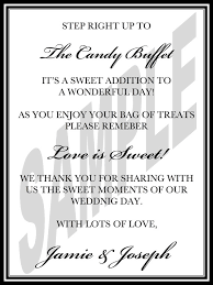 wedding candy buffet sign by weddingsbyjamie 12 00 i could make this and glue stick into white small paper bags