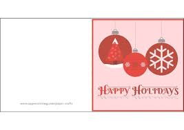 Happy Holiday Card Templates Happy Holidays Card With Christmas Ornaments Template Free
