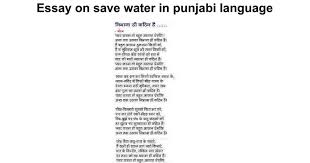 essay on save water in punjabi language google docs