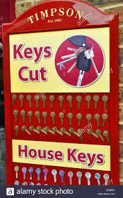 Key Cutting Designs Sign Advertising Key Cutting Service Stock Photo 54161883