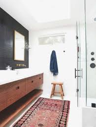 the most elegant modern bathroom rugs for inviting