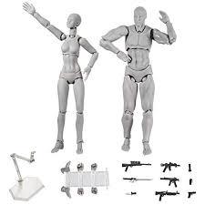 Starall 2 Pcs Set Action Drawing Figure Model Human