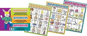 Barker Creek Ll 506d Homonyms Synonyms And Antonyms Chart