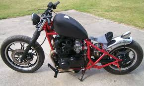 custom bobber motorcycle frames. Beautiful Frames Suzuki 650 Bobber Motorcycle With Black Tank And Red Frame And Custom Frames