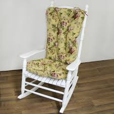 wooden rocking chair for nursery. Floral Pattern Wooden Rocking Chair Cushions For Nursery With Regard To Cozy