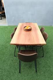 Sequoia Redwood 6 Person Dining Table Modern A Metal Legs Price