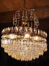 Kristallglas Lampe 20er Jahre