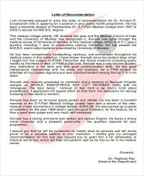 Sample Of Recommendation Letter Beauteous 48 Medical School Recommendation Letter PDF Word Sample Templates Of