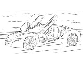 Small Picture 2015 BMW i8 coloring page Free Printable Coloring Pages