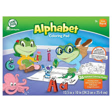 This abc coloring game for toddlers and older kids will make education interactive and fun for them and help in learning and identifying letters of the. Alphabet Coloring Pad Cyd32 Practice All The Letters From A Z With Fun Object Images Scenes By Leapfrog Walmart Com Walmart Com