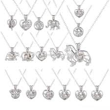 Wholesale Love Wish Pearl Necklace Cages Locket Hollow Out Oyster Pearl  Pendant Necklace Freshwater Pearl Wolf Dog Bear Elephant DIY Jewelry  Pendants For Necklace Pendant From Oncemorelove6789, $1.05| DHgate.Com
