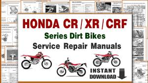 Download Honda Crf Xr Cr Series Dirt Bikes Service Repair