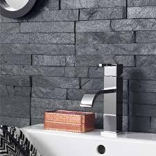 amazing dark grey slate wall tiles split face black mosaic terranean tiles