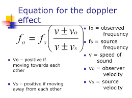 doppler effect case 1 observer away from source an observer is moving away 8 equation