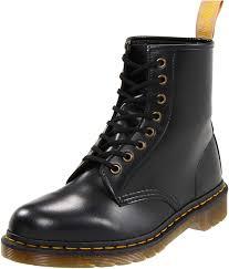 com dr martens vegan 1460 smooth black combat boot fleix rub 7 uk us men s 8 women s 9 d us ankle bootie