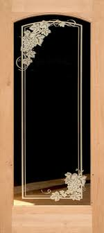 interior clear glass door. 801 Knotty Alder Etched Glass Grape Leaves Door Interior Clear -
