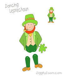 template of a leprechaun dancing leprechaun for st patricks fun ziggity zoom