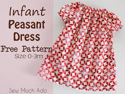 Peasant Dress Pattern Interesting Free Infant Peasant Dress Pattern Fab N' Free