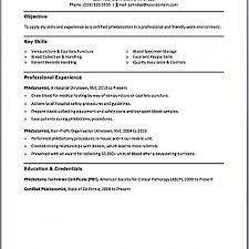 Phlebotomy Resume Examples Fascinating Resume Templates Phlebotomist Sample No Experience Samples Jason