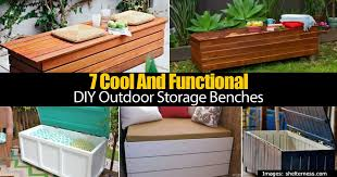 7 cool and functional diy outdoor storage benches