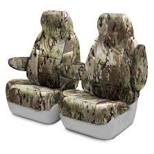 Coverking® - Chevy Colorado 2016 Multicam™ Camo Custom Seat Covers
