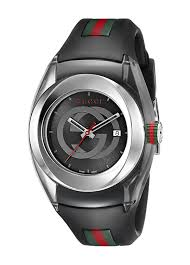 gucci 1142. sync l stainless steel watch with black rubber band(model:ya137301) · gucci 1142