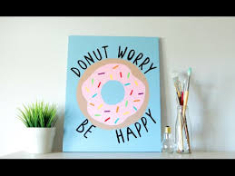 diy tumblr inspired canvas art donut quote summer room decor