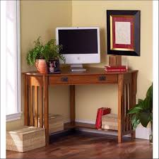 image corner computer. Desk:Small Wooden Computer Table Solid Wood Corner Desk With Hutch White Image
