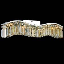 crystal vanity lights for bathroom. picture of gesto modern rectangular wave wall sconce vanity light polished chrome clear / smoky crystal lights for bathroom