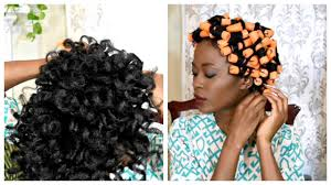 perm cold wave rod set to moisturize maintain straight 4c natural hair video