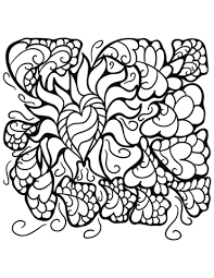 heart design coloring pages.  Coloring Abstract Heart Patterns Coloring Page Intended Design Coloring Pages T