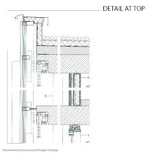 curtain wall section detail section through