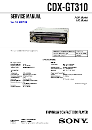 sony car audio service manuals page 27 Sony Cdx Gt330 Wiring Diagram cdx gt310 service manual sony cdx gt300 wiring diagram