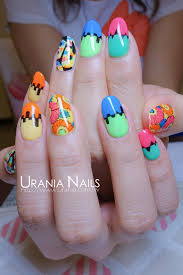 Urania Nailseyelashes 彩色的繽紛花朵螢光色的搭配讓指甲充滿夏日