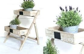 garden plant stands planter stands wood double tier wood planter stand wooden garden plant stand distressed