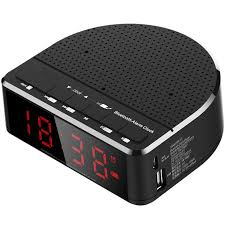 image is loading digital alarm clock with bluetooth speaker red digit