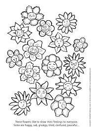 happy and sad art therapy colouring in drawing