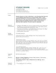Resume Format College Student Resume Template College Student Resume
