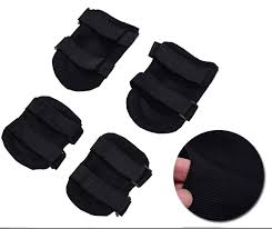 <b>4pcs</b>/<b>set</b> Elbow <b>Knee Pads</b> Gym Cycling Sports Protector Black ...