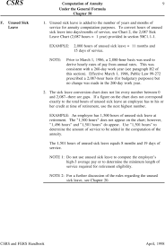 Csrs Computation Of Annuity Fers Under The General Formula