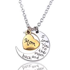 antique necklace i love you to the moon and back