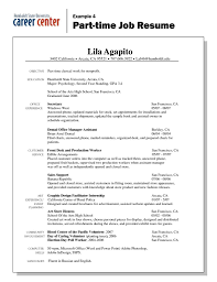 Resume For Part Time Job 37948 Densatilorg