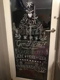 Kreidestift Weihnachten Fensterbild Chalkpaint