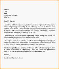 sample thank you letter for scholarship college scholarship thank you letter