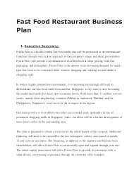 restaurant business plan examples twenty hueandi co fast food restaurant business plan