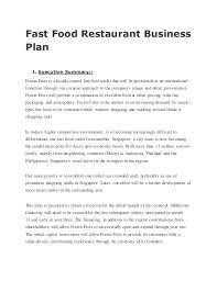 restaurant business plan examples twenty hueandi co fast food restaurant business plan