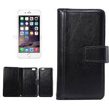 detachable 9 card slots leather wallet case for iphone 6s 6 black 1